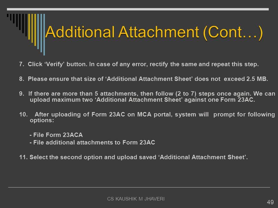Additional Attachment (Cont…)
