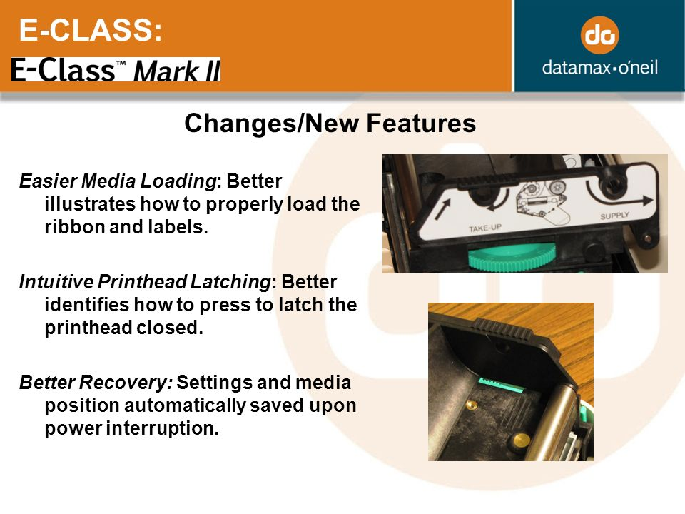E-CLASS: Changes/New Features