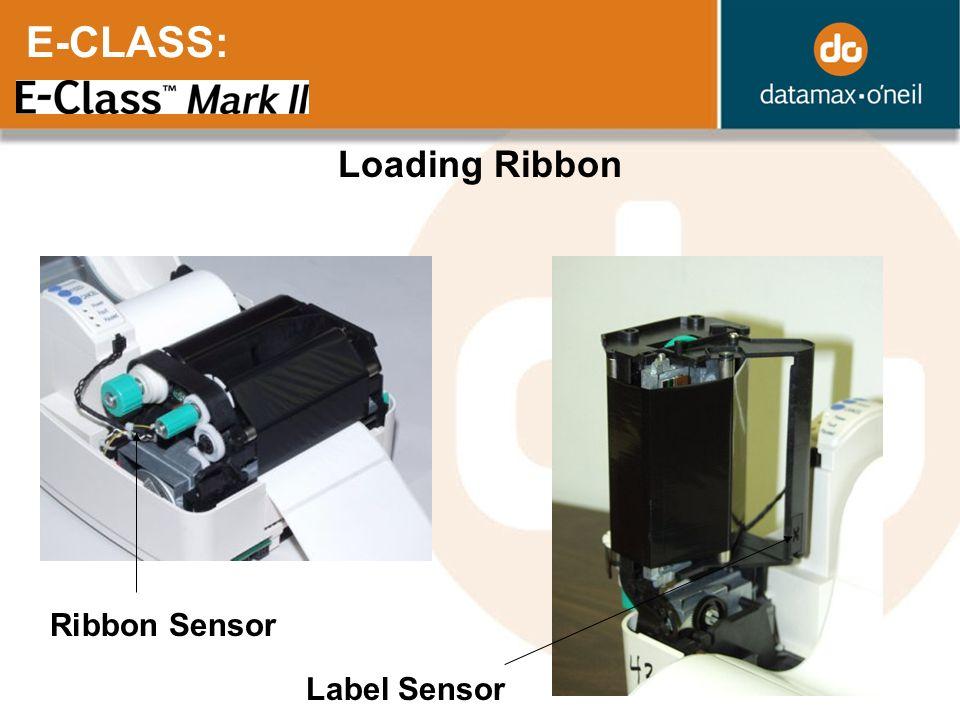 E-CLASS: Loading Ribbon Ribbon Sensor Label Sensor
