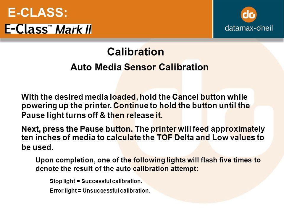 Auto Media Sensor Calibration