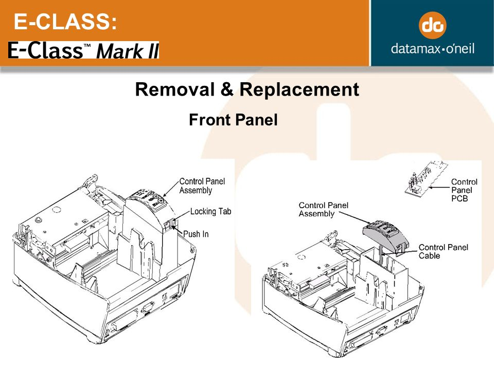 E-CLASS: Removal & Replacement Front Panel