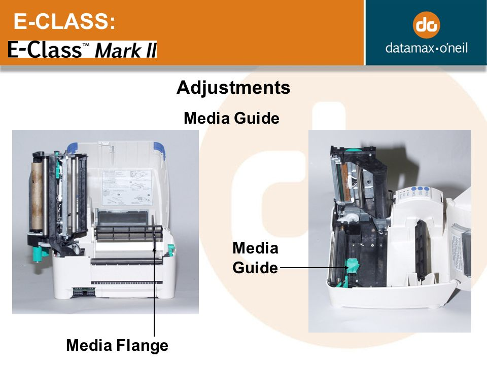 E-CLASS: Adjustments Media Guide Media Guide Media Flange