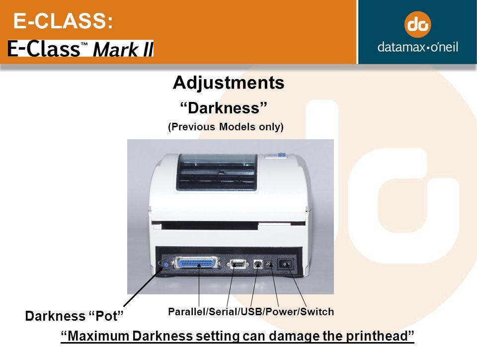 E-CLASS: Adjustments Darkness Darkness Pot