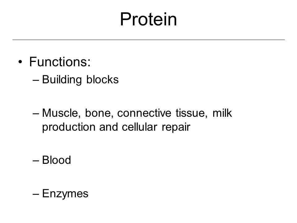 Protein Functions: Building blocks