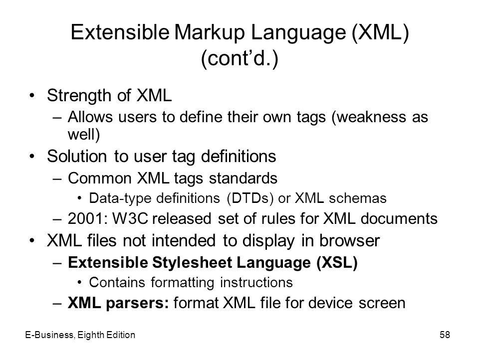 Extensible Markup Language (XML) (cont'd.)