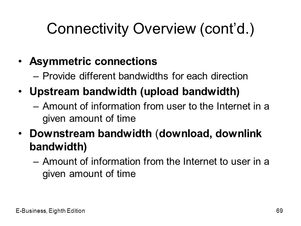 Connectivity Overview (cont'd.)