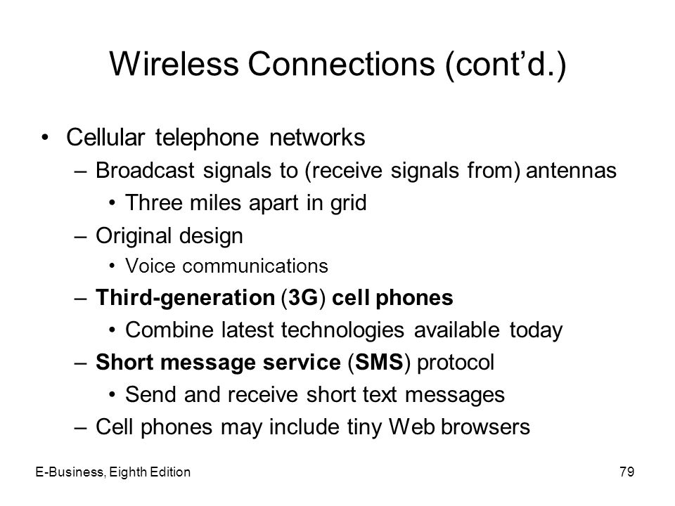 Wireless Connections (cont'd.)