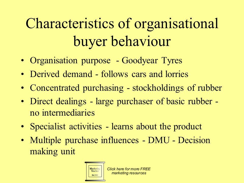 Characteristics of organisational buyer behaviour