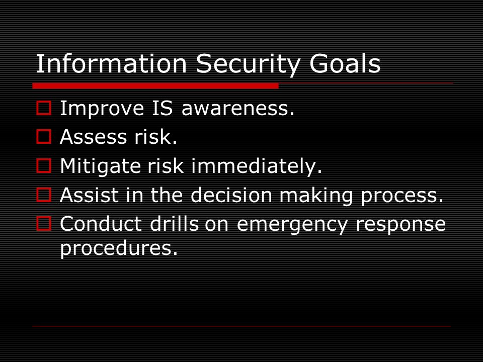 Information Security Goals