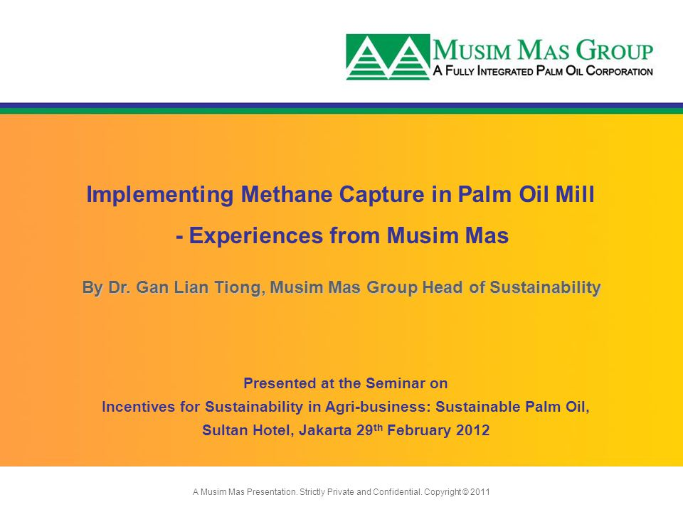Implementing Methane Capture in Palm Oil Mill