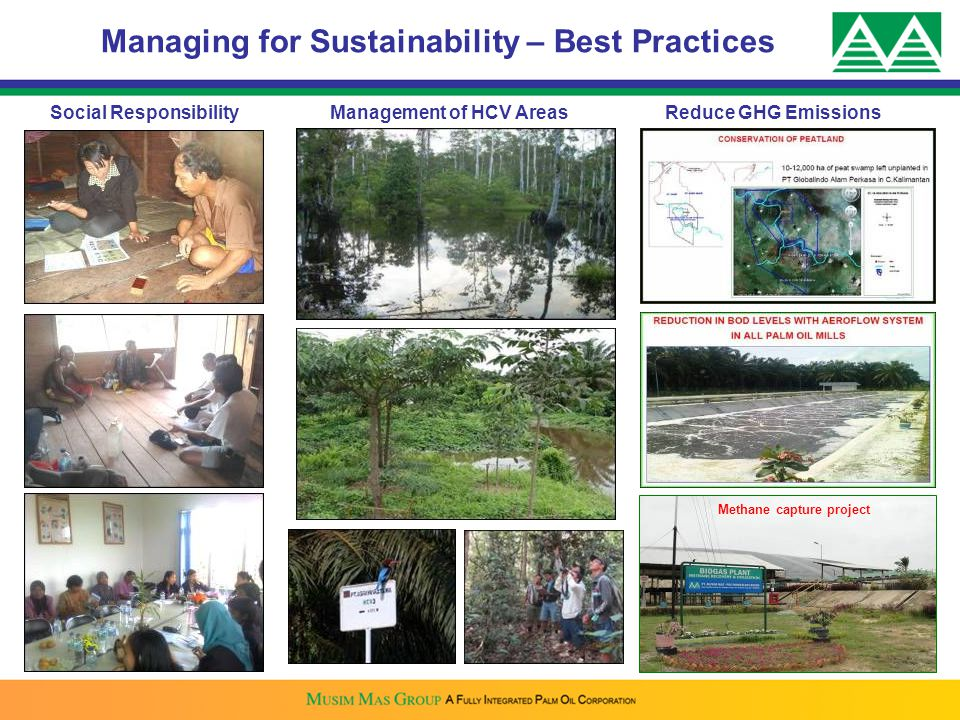Managing for Sustainability – Best Practices Methane capture project
