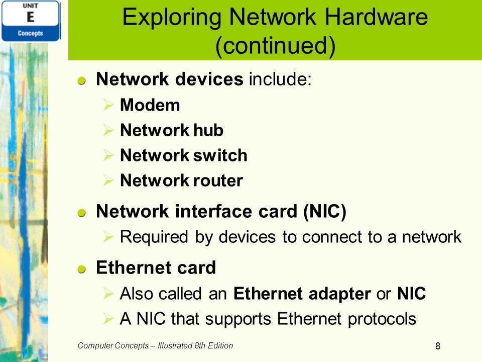 Exploring Network Hardware (continued)
