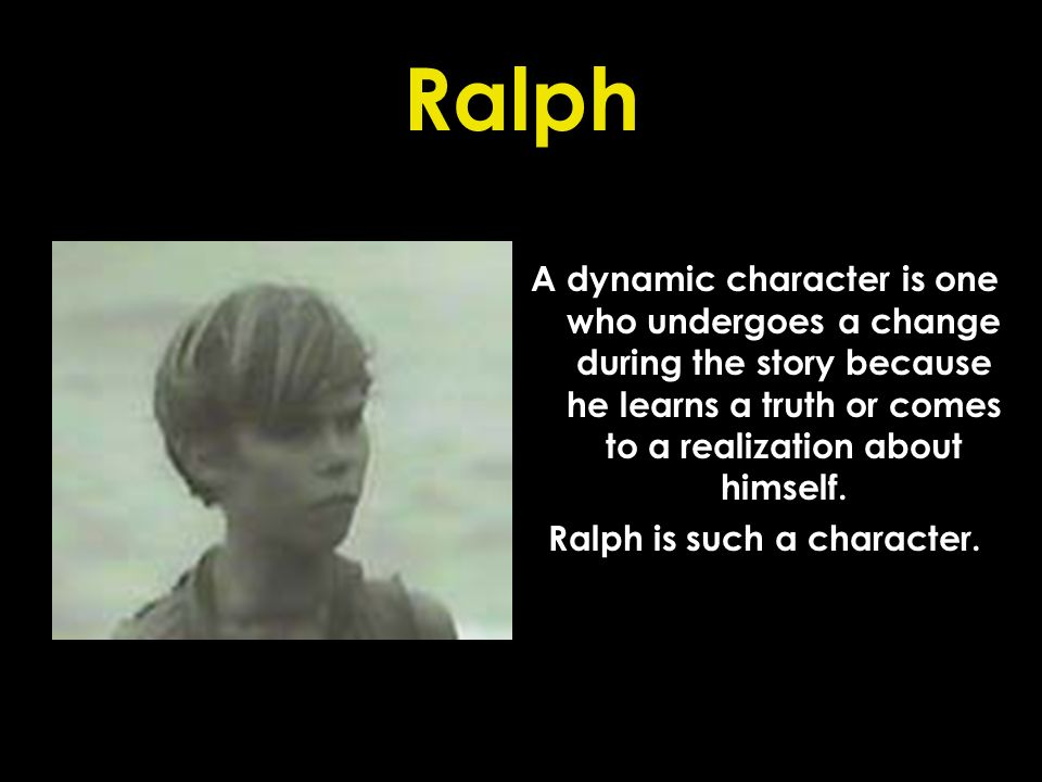 Ralph is such a character.
