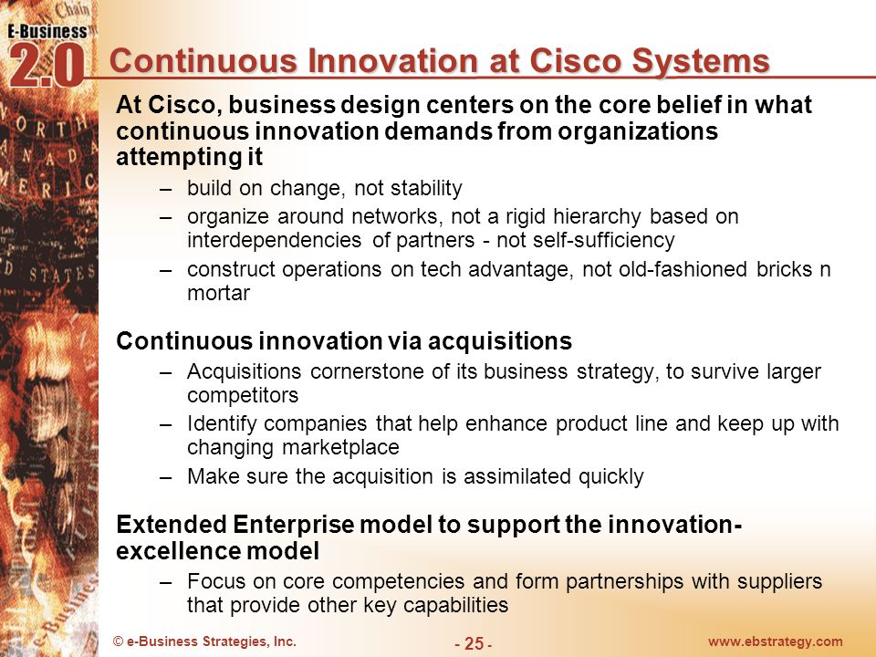 Continuous Innovation at Cisco Systems