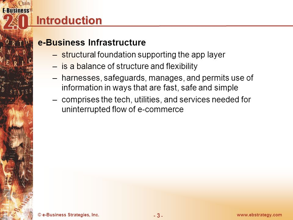 Introduction e-Business Infrastructure