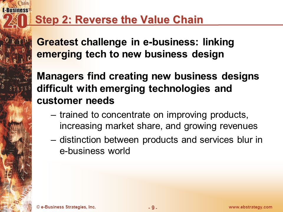 Step 2: Reverse the Value Chain
