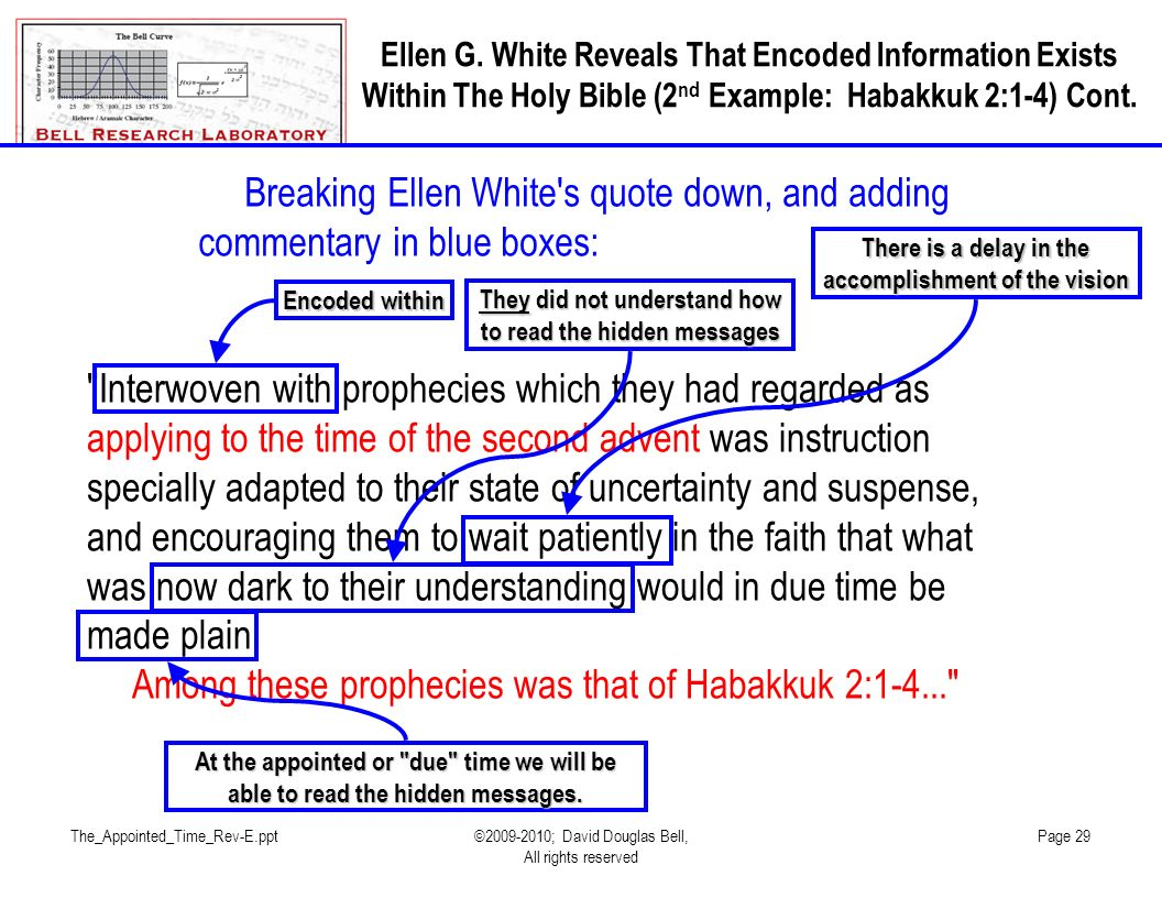 Among these prophecies was that of Habakkuk 2:1-4...