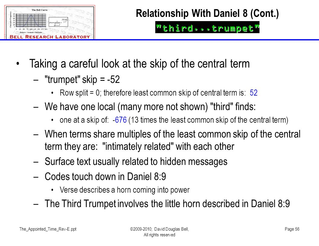 Relationship With Daniel 8 (Cont.)