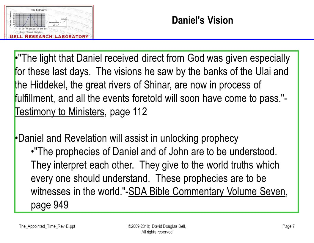 Daniel and Revelation will assist in unlocking prophecy