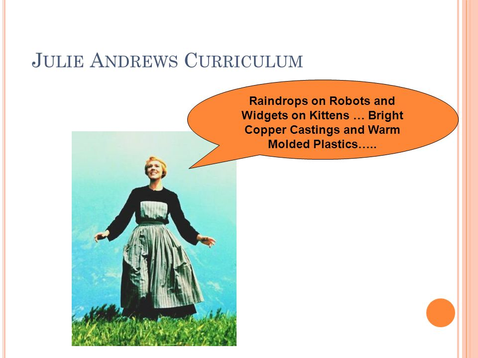 Julie Andrews Curriculum