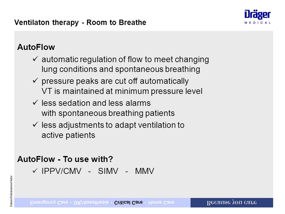 less sedation and less alarms with spontaneous breathing patients