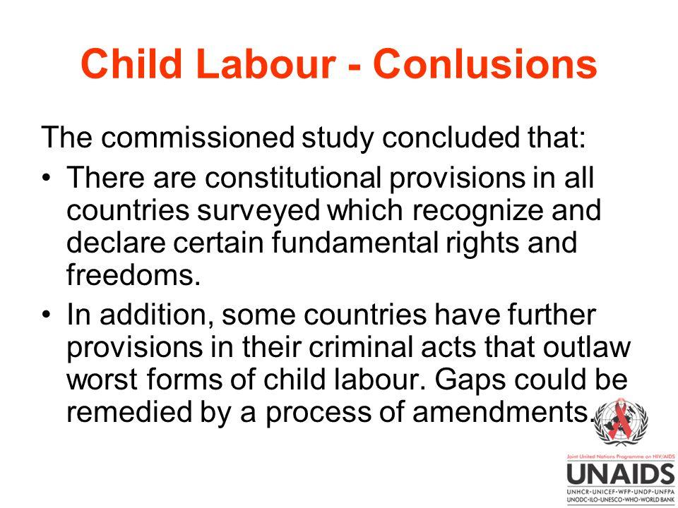 Child Labour - Conlusions