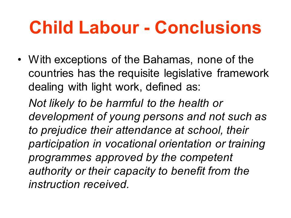 Child Labour - Conclusions