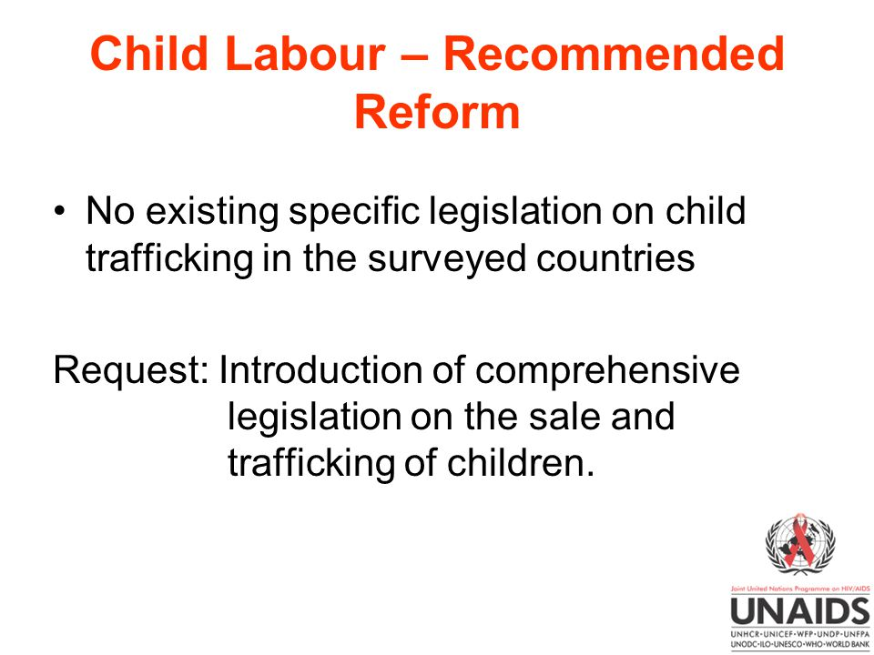 Child Labour – Recommended Reform