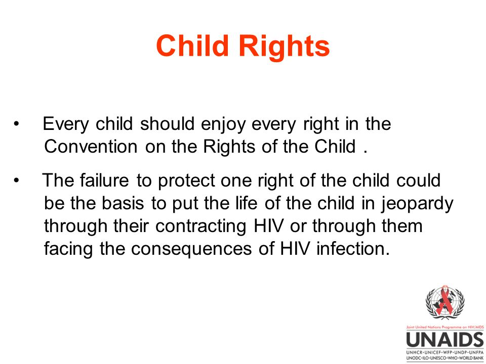 Child Rights Every child should enjoy every right in the Convention on the Rights of the Child .