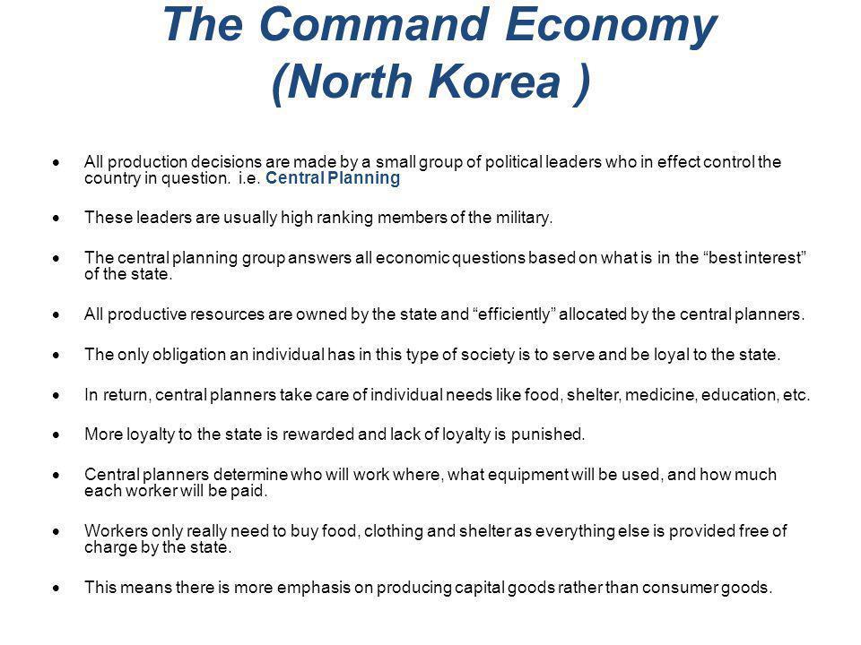 The Command Economy (North Korea )