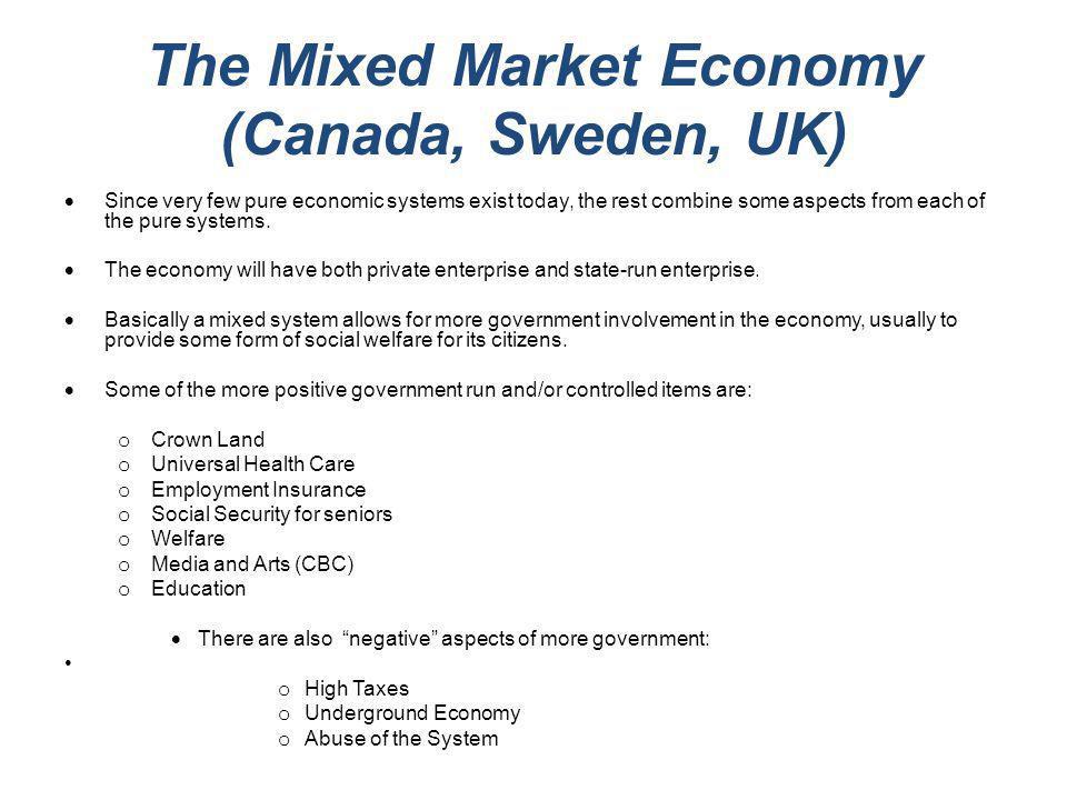 The Mixed Market Economy (Canada, Sweden, UK)