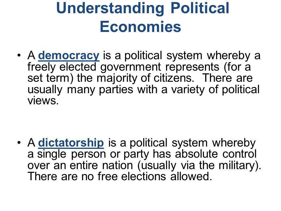 Understanding Political Economies