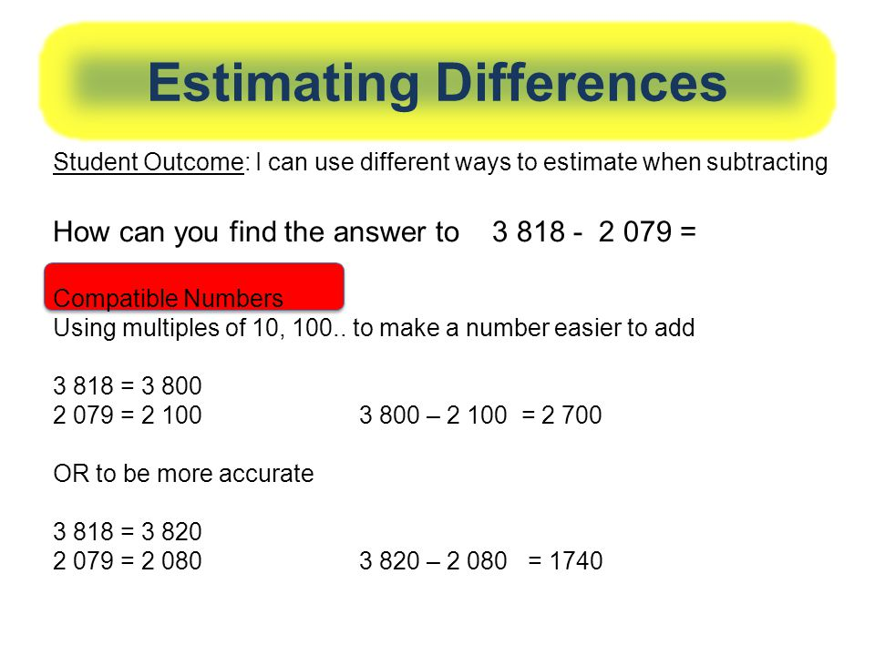 Estimating Differences