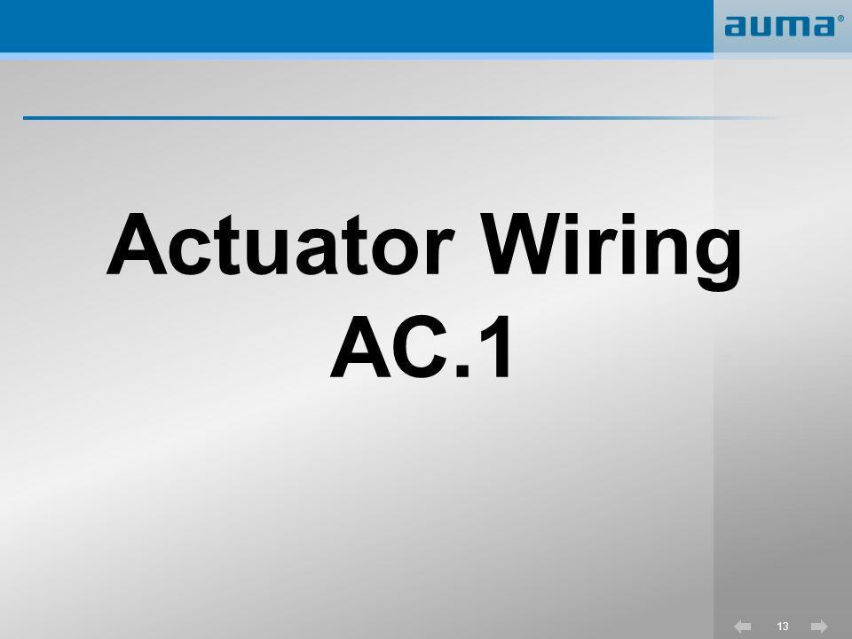 Actuator Wiring AC.1