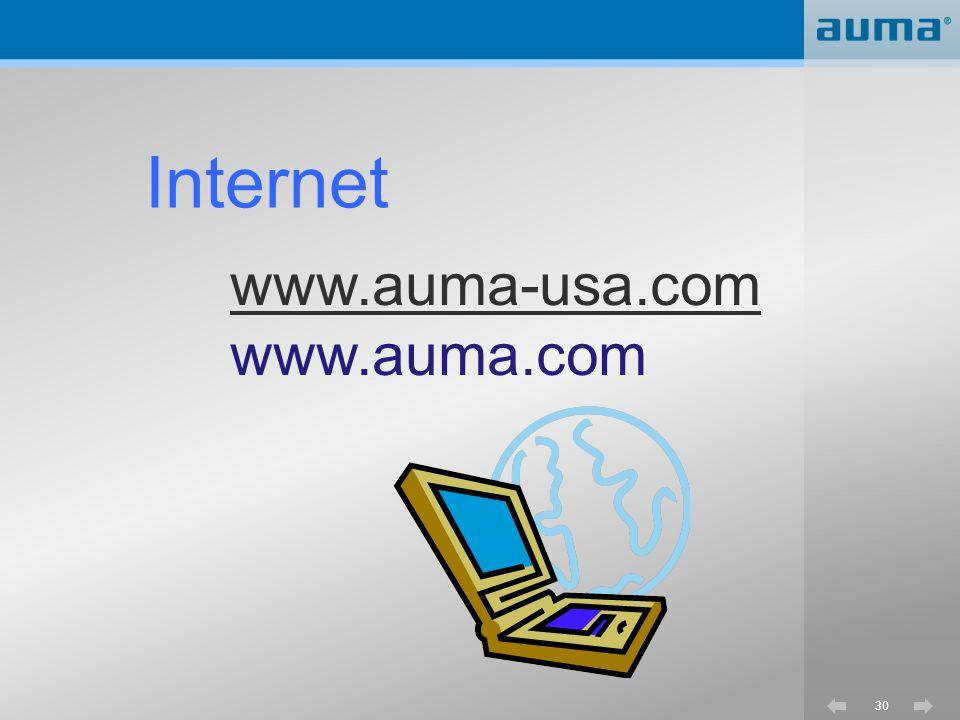 Internet www.auma-usa.com www.auma.com