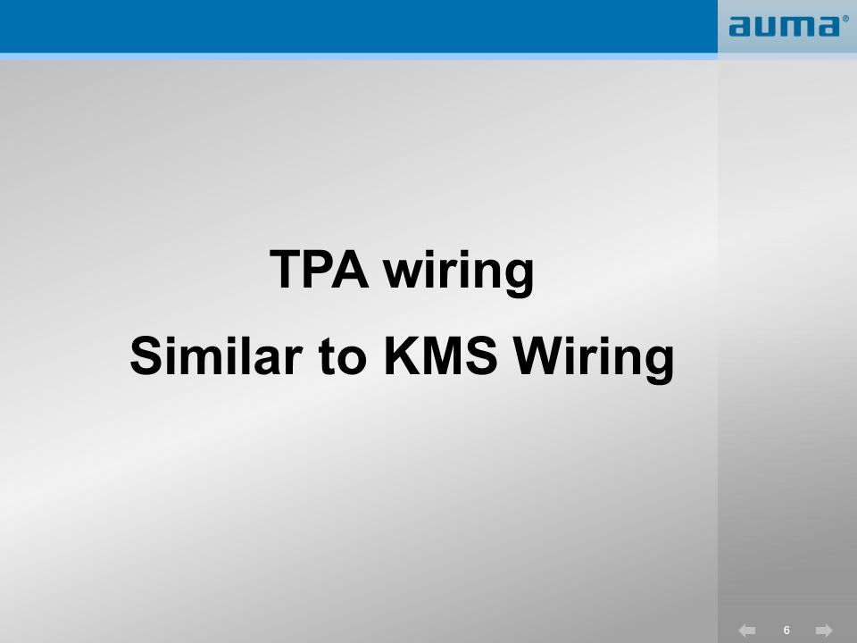 TPA wiring Similar to KMS Wiring