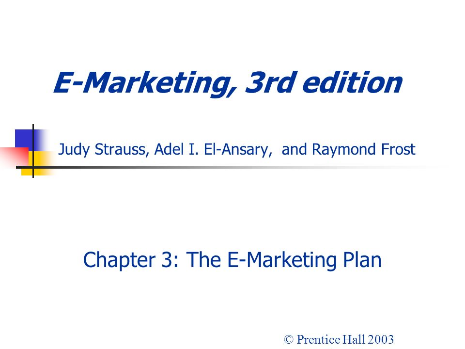Chapter 3: The E-Marketing Plan