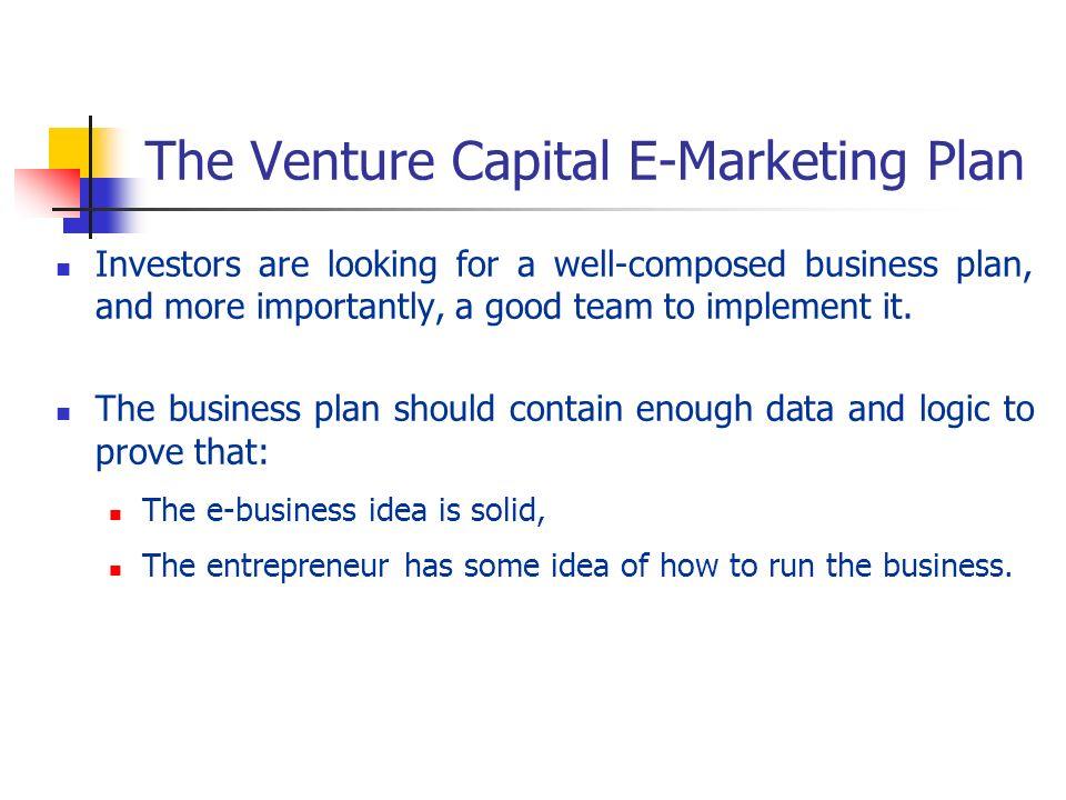 The Venture Capital E-Marketing Plan