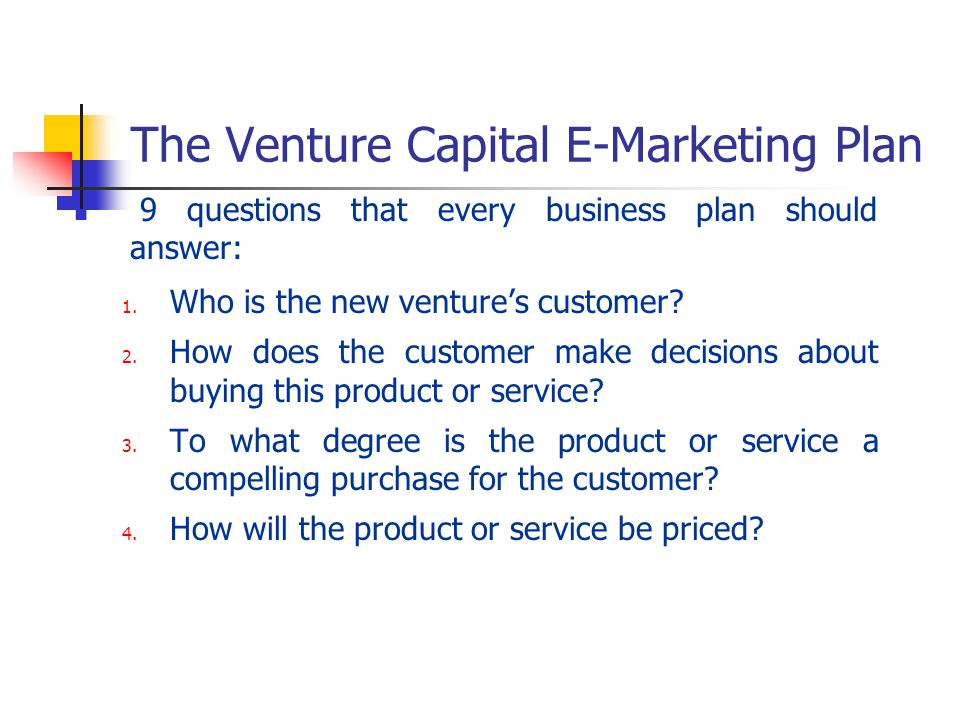 How to make a business plan for venture capital