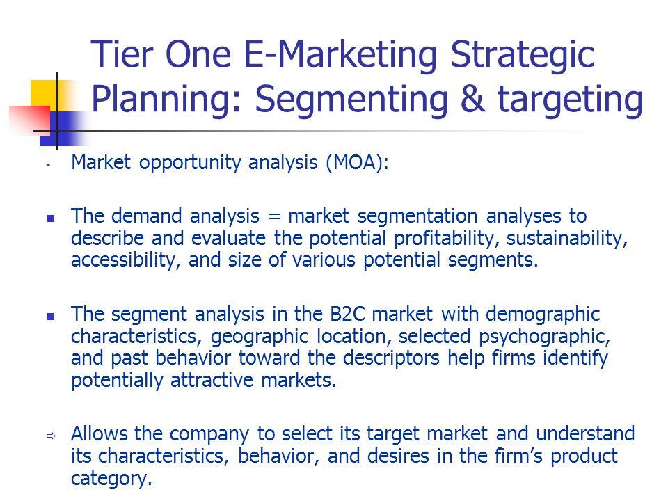Tier One E-Marketing Strategic Planning: Segmenting & targeting
