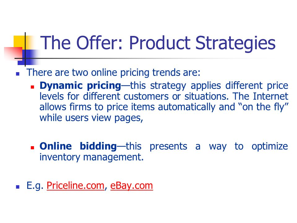 The Offer: Product Strategies
