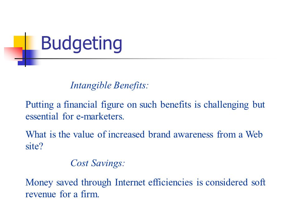 Budgeting Intangible Benefits: