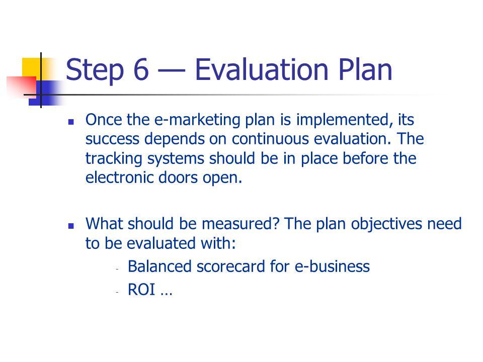 Step 6 — Evaluation Plan