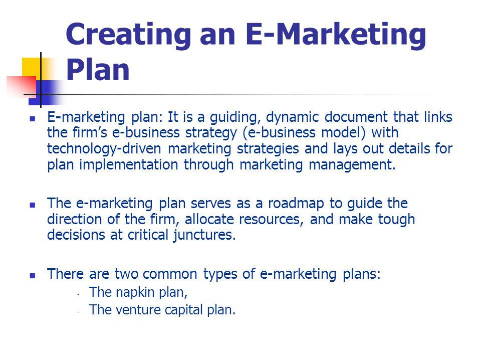 Creating an E-Marketing Plan