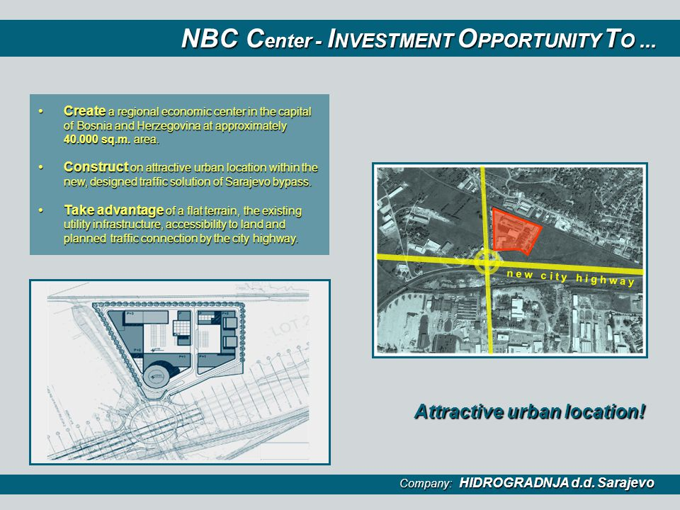NBC Center - INVESTMENT OPPORTUNITY TO ...