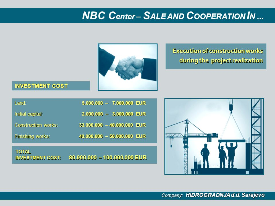 NBC Center – SALE AND COOPERATION IN ...