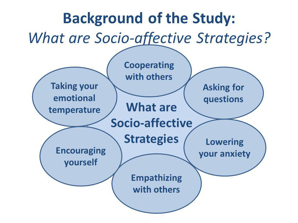 Background of the Study: What are Socio-affective Strategies