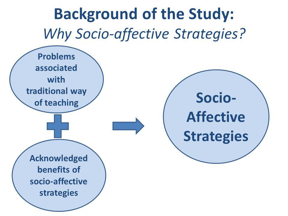 Background of the Study: Why Socio-affective Strategies