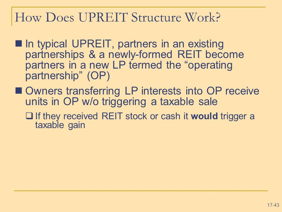 How Does UPREIT Structure Work