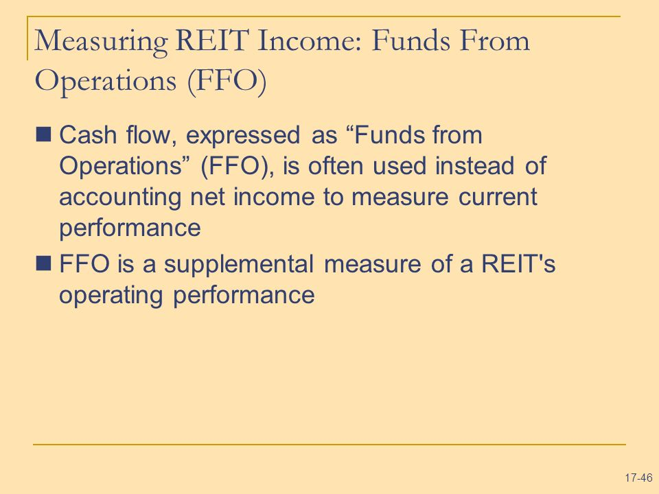 Measuring REIT Income: Funds From Operations (FFO)